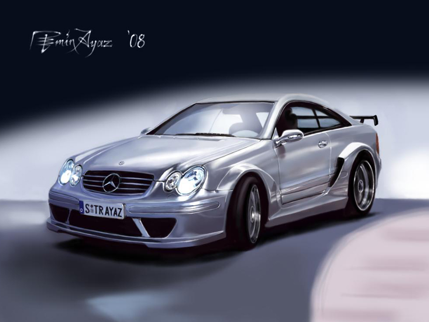 mercedes-car-drawing-sketch